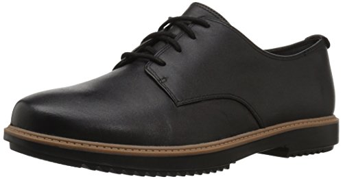 Clarks Women's Raisie Bloom Oxford, Black Leather, 5.5 M US