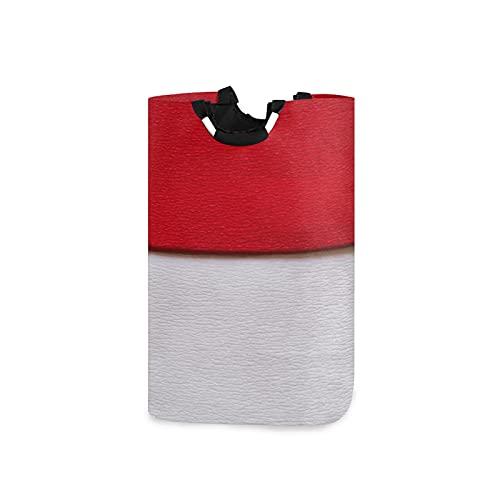 Wäschekorb mit der Flagge von Indonesien, großer Aufbewahrungsbehälter, wasserdicht, faltbar, Leinen, mit Handgriffen für Aufbewahrungskorb, Kinderzimmer, Zuhause, Kinderzimmer, Babykorb