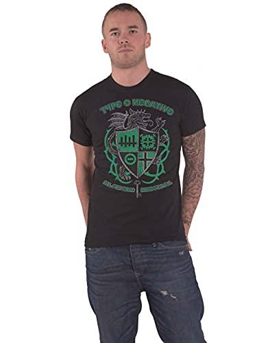 Type O Negative T Shirt Wolf Crest Band Logo Nuovo Ufficiale Uomo Size S