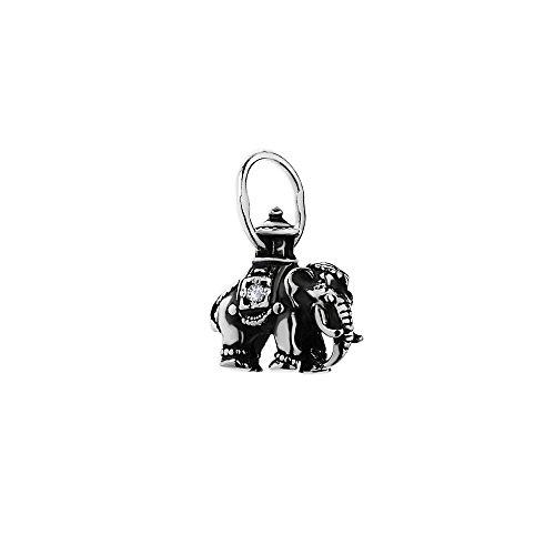NKlaus Silber Exclusiver 925er Sterlingsilber Ketten Anhänger Orthodox Elefant mit Zirkonia 6294