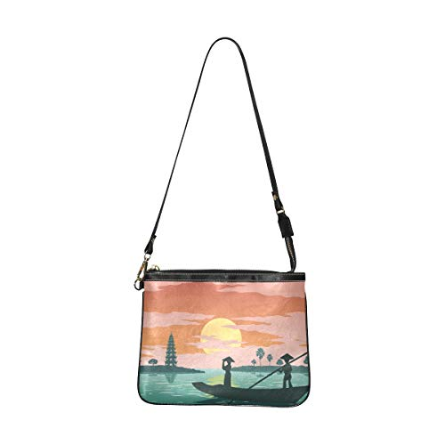 Fashion Shoulder Bag For Girls Woman Stand Boat Go Pay Respect Designer Crossbody Bags For Women 10 X 8 Inch Lightweight Pu Leather Fashion Tool Bag With Long Strap For Women