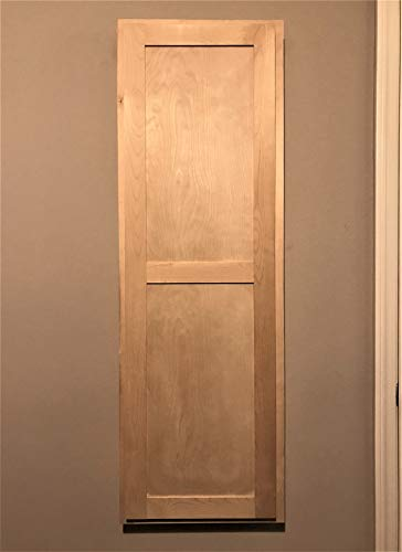 Slide-Away Ironing Boards in-Wall Birch Stain or Paint Grade Shaker Door