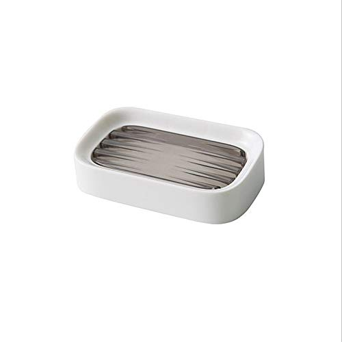 Qxinjinxfzh Cuarto de baño de Drenaje Soap Box higiénico jabón de baño Caja portátil de Doble Capa de Drenaje Rack Caja de jabón Caja de almacenaje del hogar