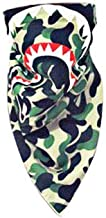NF orange Bape Bathing Ape AAPE Shark Black Camouflage Mouth Face Mask Gauze Mouth-Muffle (1pcs Camouflage Shark)