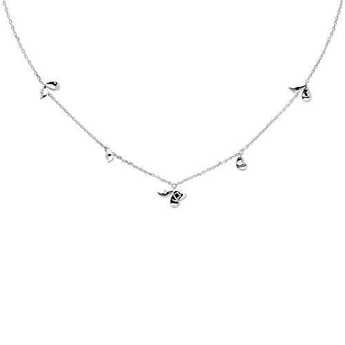 P D Paola Women's Necklace Jasmine Silver CO02-163-U
