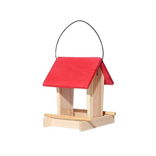 ZhuFengshop voederstation voor vogels, tuin, om op te hangen, voor buiten, met voedervoorziening voor regenvelden, vinken, tuin, buiten