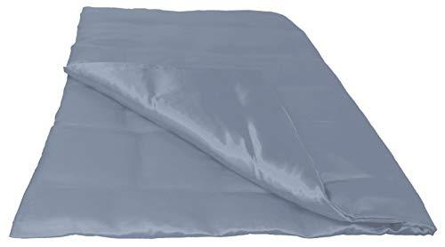 beties Glanz Satin Bettbezug ca. 135x200 cm Bettwäsche (wählen Sie Ihren Kissenbezug + Spannbetttuch extra dazu) 100% Polyester Silber-Grau