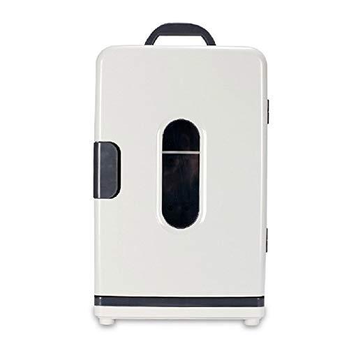 LMDC 18 litres Blanc Mini réfrigérateur Refroidisseur et réchaud 12V DC / 220V AC Portable Mini boîte de Rangement réfrigéré électrique for Voyage, Camping (46 * 27 * 36cm)