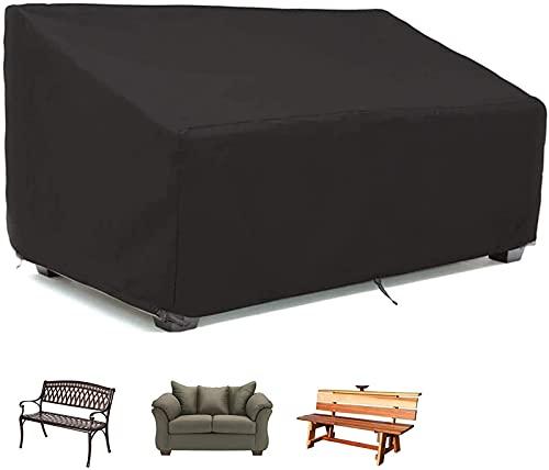 Copridivano da esterno, copri panca per patio impermeabile al 100%, copertura durevole per divanetto, copri mobili da giardino per prato, protezione per tutte le condizioni atmosferiche,134x66x89cm