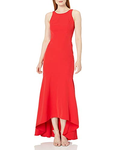 Nicole Miller New York Damen Sleeveless High-Low Mermaid Gown Formelle Kleidung, rot, 36