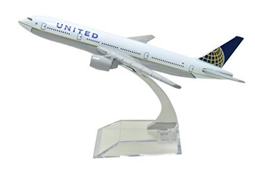 TANG DYNASTY(TM) 1:400 16cm B777 United Airlines Metal Airplane Model Plane Toy Plane...