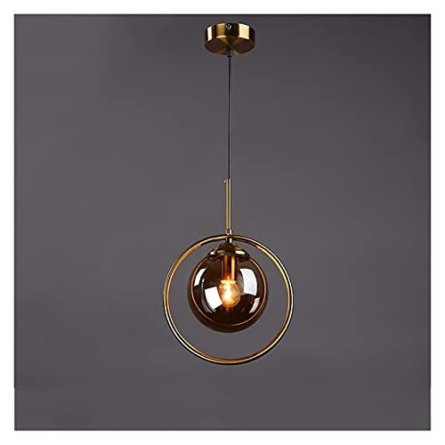 Accesorio de iluminación Moderno globo colgante luces de vidrio industrial nórdico techo lámpara colgante de techo ajustable metal luces colgantes creativos e27 restaurante suspensión iluminación acce