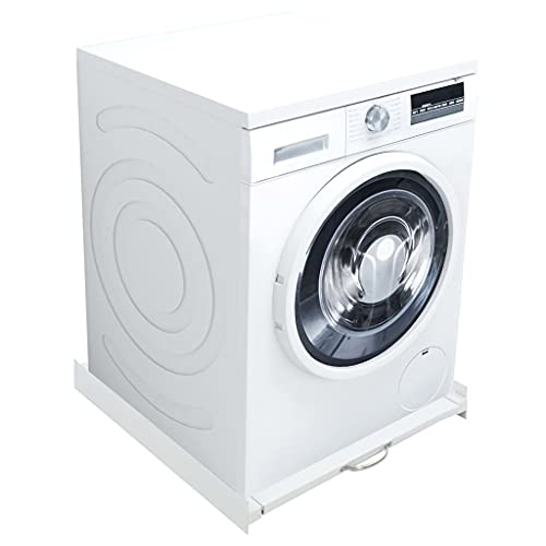of width of stackable washer dryers vidaXL Washing Machine Stacking Kit w/Pull-Out Shelf Laundry Stand Dryer