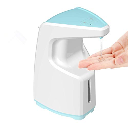 BIBOVI automatische zeepdispenser Touchless, openbare instellingen zoals scholen, supermarkt, treinstations hand-free sensor automatische zeepdispenser vloeibare schaal 450ml aanrechtblad/muur gemonteerde zeepdispenser voor keukendouche