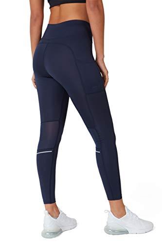 TCA SuperThermal Damen Thermo Sportleggings/Laufhose mit Reißverschlusstasche - Navy Eclipse (Blau), M