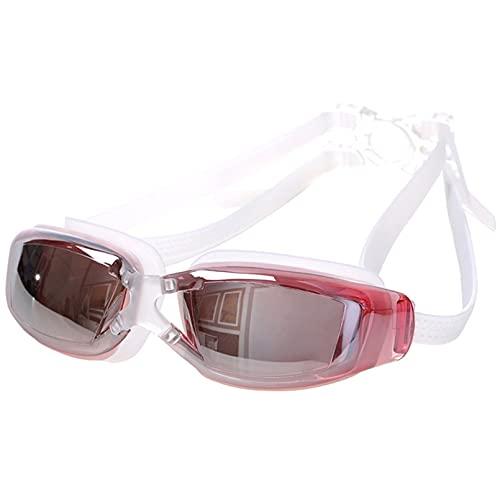 Mcottage Galvanoplastia Impermeable Antivaho Y Anti-UV Gafas De Natación Gafas De Natación Elásticas Ajustables Unisex Natación Buceo Vidrio