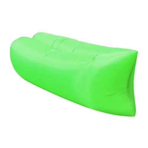 XKMY Colchoneta inflable para acampar, sofá o tumbona, silla para acampar, al aire libre, playa, sofá inflable para interiores y exteriores, adultos (color: verde)