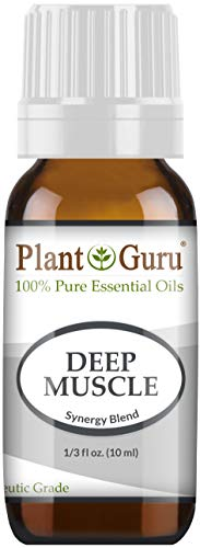 Deep Muscle Essential Oil Blend 10 ml 100% Pure, Undiluted, Therapeutic Grade. Great for Joint, Neck, Back, Spasms, Stiffness, Sore Muscle Pain.