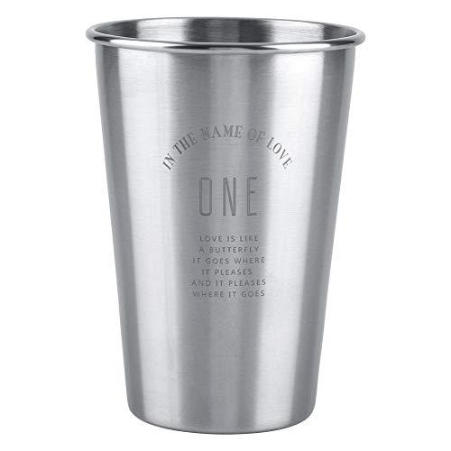 Taza medidora de acero inoxidable Taza de acero inoxidable Taza de café de acero inoxidable Botella de acero inoxidable, taza de jugo, para jugo de café