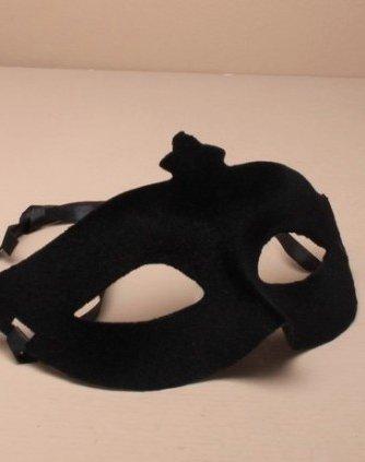 Life Is Good Hommes ÉTINCELANT Mascarade Masque DE Carnaval des Yeux Velour Noir