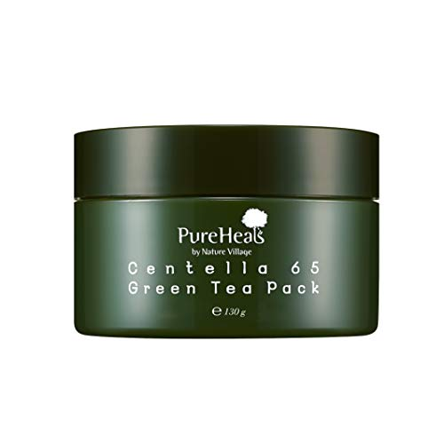 PureHeals Centella 65 Greentea Pack, Mascarilla Facial 130 ml