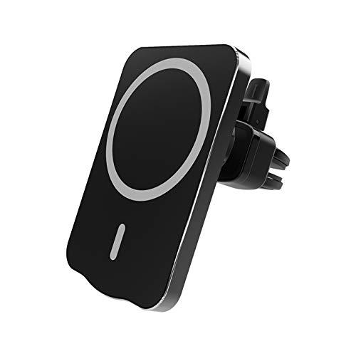 Cargador inalámbrico para automóvil, Soporte para teléfono con ventilación de Aire y Soporte para teléfono con Carga rápida Qi de 15 W para iPhone, Samsung Galaxy Note 20, etc.