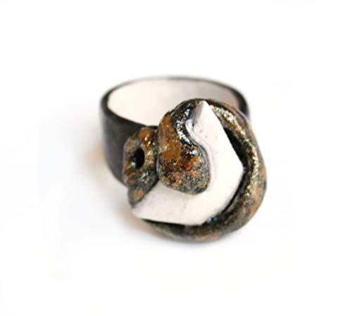 Anillo Boa Constrictor. Anillo de porcelana. Regalo para ella. Regalo para el. Anillo serpiente. Regalo especial.