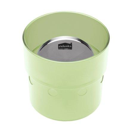 Zielonka Trinkflasche, Plastik, acryl grün, 4 x 4 cm