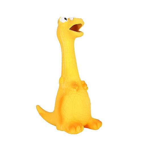 Kształt dinozaura wrzeszczące zwierzęta dla psów zabawki dla psów gryzaki do zębów trzonowych wycisnąć piszczącą zabawkę dźwiękową dla zwierząt domowych(dinosaur)