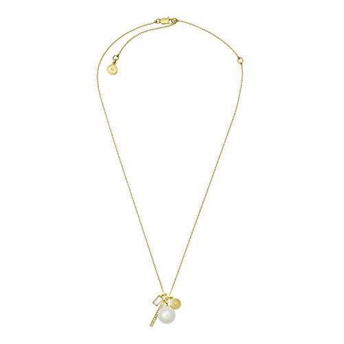 Michael Kors Cadena de Collar Mujer Acero Inoxidable circonita Redonda