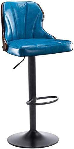 Computerstoel Barkrukken Stoel 360 ° Draaibare keuken Ontbijtkroeg Bureaustoel Teller Verstelbare hoogte Blauwe stoel Max. Belasting