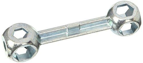 XLC fietsbel hoofdsleutel 10 gaten, zilver, 10x3x3cm