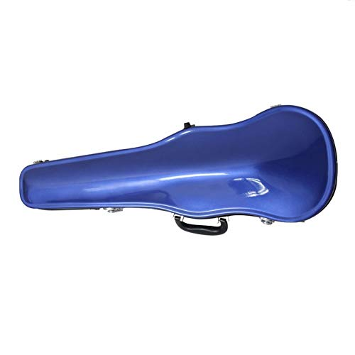 XuZeLii Geigenkoffer FRP Violine Hartkoffer in voller Größe 4/4 Geigenkoffer mit Hygrometer Kann Geige speichern (Farbe : Blau, Size : 3/4)