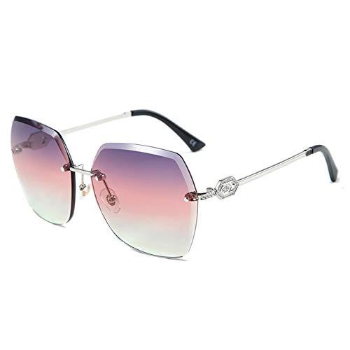 LITT zonnebril 2020 met strass-steentjes bezet voor dames zonnebril zonder montuur Cat Eye zonnebril dames frameless UV400