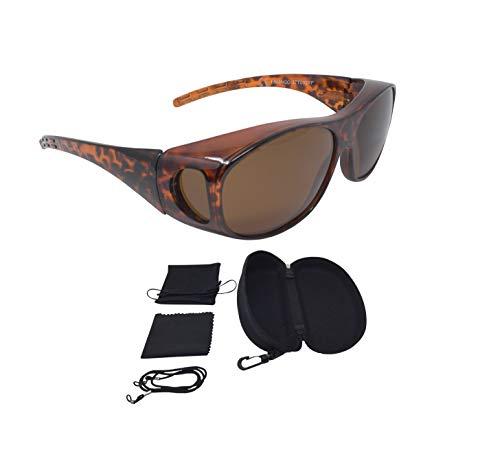 Sonnenüberbrille Überzieh Sonnenbrille FLEXI EDITION polarisiert UV 400 (Leopard)