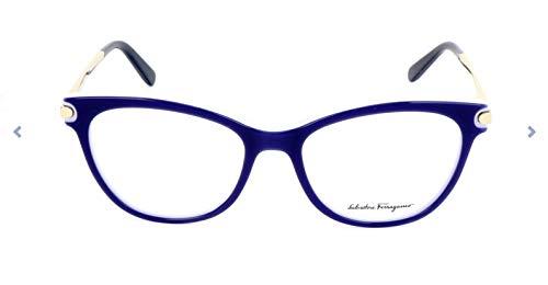 Ferragamo SF2763 Cateye Brillengestelle 53, Blau