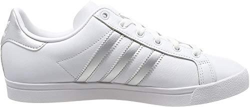 adidas Damen Coast Star Sneaker, Weiß (Footwear White/Silver Metallic/Grey 0), 38 EU