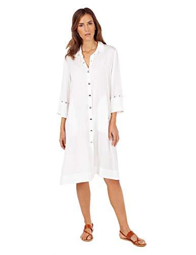 Anna Mora jurk blouse wit voor dames