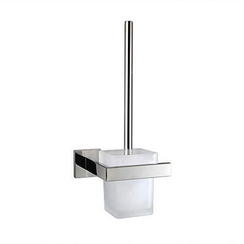 TURS 4-teiliges Badezimmer-Zubehör-Set aus rostfreiem Edelstahl, Handtuchhalter und Handtuchhalter, Handtuchring, Wandhalterung, Q7Series-P, Edelstahl, poliert, Toilet Brush with Holder