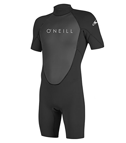 O'Neill Wetsuits Men's Reactor-2 2mm Back Zip Spring Wetsuit, Black/Black, M
