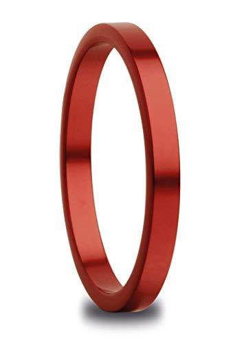 Bering Damen-Ring Innenring schmal Arctic Symphony Keramik rot 554-49-X1, Bering Größe:8
