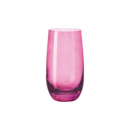 Leonardo 018039 Longdrinkglas/Wasserglas/Saftglas - SORA - Viola/lila - 270 ml