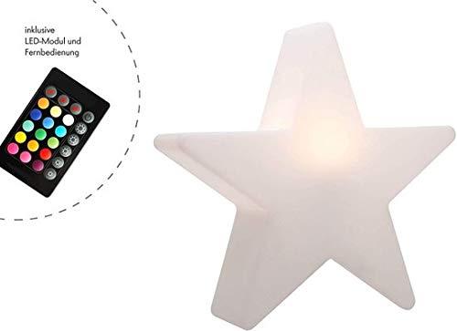 MaxxHome LED Stern - Weihnachtsd Stimmungslicht mit Fernbedienung - 20 cm