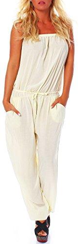 malito dames onesie in effen kleuren | Overall met stoffen riem | Jumpsuit - Broekpak - Romper 4538