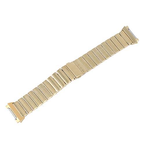Pulseira de substituição de pulseira de relógio inteligente Pulseira ajustável de aço inoxidável de uma conta com fivela de estilingue pulseira adequada para Fitbit iônico (dourado)