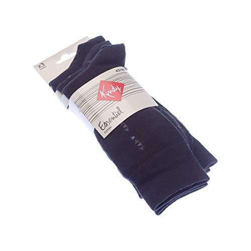 Kindy Socken aus Baumwolle, 3 Paar Gr. 43/46, Schwarz