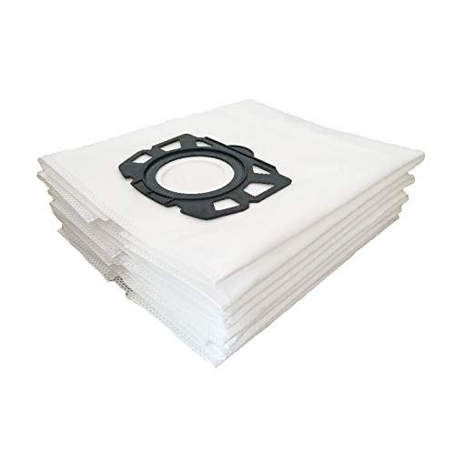6 bolsas de filtro de fieltro, 2.863-006.0, repuesto para aspiradoras Karcher 6.904-409.0, WD4, WD5, WD5, WD4 P, WD5 P, WD6 P, MV 4, MV 5, MV 6, MV4 P, MV5 P, MV6 P
