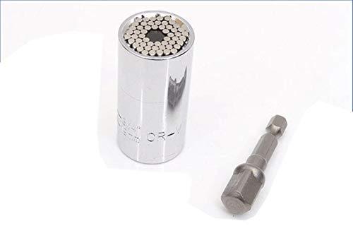7-19mm Spander universal GRIPT SOCKETS SOTCHET SITION CONJUNTO DE POTENCIA MULTI funcional Adaptador Herramientas de mano Herramientas de reparación Destornillador (Color : B)