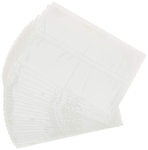 portalistini Pocketfix confezione da 10 pezzi trasparente tasca adesiva con inserto in cartoncino per cataloghi DURABLE 801919 105x65 mm