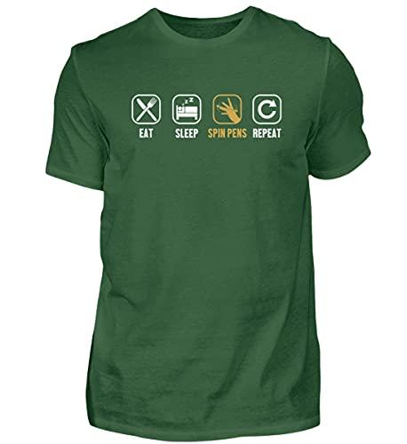 Pen Spinning Thumbaround   01484 - Camiseta para hombre, Verde botella., XXXXXL